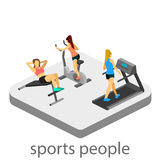 Isometric interior of gym Royalty Free Stock Photography