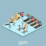 Isometric interior of gym Royalty Free Stock Image