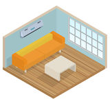 Isometric interior lounge room Royalty Free Stock Photo