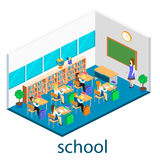 Isometric interior of school Stock Images