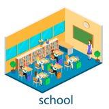Isometric interior of school Stock Photo