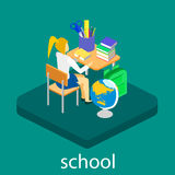 Isometric interior of school Royalty Free Stock Images