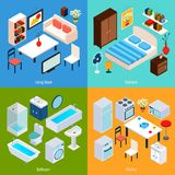 Isometric Interior Set Royalty Free Stock Image