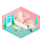 Isometric interior of sweet-shop. Royalty Free Stock Images