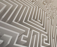 Isometric Intricacy labyrinth maze background 3d design template vector illustration Stock Images