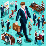Isometric Isolated Business People Icon Set Vector Illustration Royalty Free Stock Photos