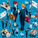 Isometric Isolated People Business Icon Set Vector Illustration Royalty Free Stock Photos