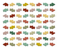 Isometric jigsaw puzzle pieces Stock Images