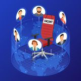Isometric Job Agency Employment and Hiring Concept stock illustration