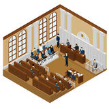 Isometric Judicial System Concept Royalty Free Stock Photos