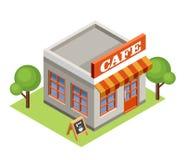 Isometric kawiarnia Fotografia Royalty Free