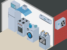 Isometric Kitchen Appliances Royalty Free Stock Photo