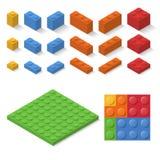 Isometric konstruktor zabawki szczegóły Zdjęcia Royalty Free