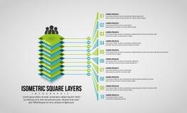 Isometric kwadrat Ablegruje Infographic Zdjęcia Royalty Free