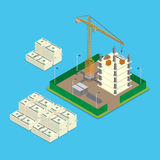 Isometric land price value business money flat 3d Stock Photo