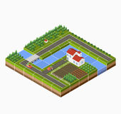 Isometric landscape Stock Photo