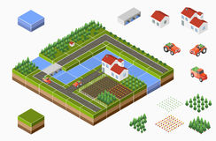 Isometric landscape Royalty Free Stock Image