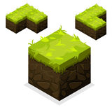 Isometric Landscape Cube unending land and grass Royalty Free Stock Photo