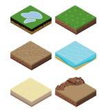 Isometric landscape design. 3D illustration landscape for game stock illustration