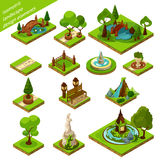Isometric Landscape Design Elements Stock Photo