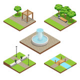 Isometric Landscaping Composition Stock Image