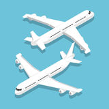 Isometric large passenger airplane Royalty Free Stock Photo
