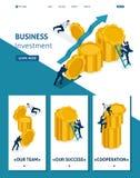 Isometric Leadership Qalities, Landing Page stock illustration