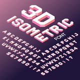 3d isometric vector font. stock illustration