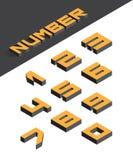 Isometric liczby Zdjęcie Stock