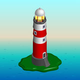 Isometric lighthouse. Stock Photography