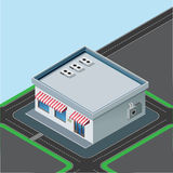 Isometric little shop Royalty Free Stock Image