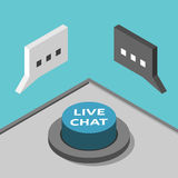 Isometric live chat button Stock Photography
