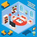 Isometric Living Room Interior Royalty Free Stock Image