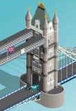 Isometric Londyn wierza most Zdjęcia Royalty Free
