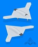Isometric Long Range Strike-Bomber. Stock Photography