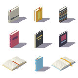 Isometric low poly books Stock Image