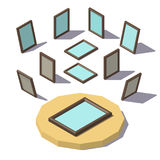 Isometric low poly Picture Frame Royalty Free Stock Images