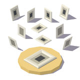 Isometric lowpoly Picture Frame Stock Photos