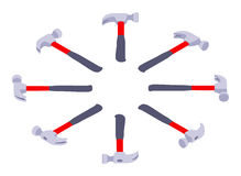 Isometric lying hammers Royalty Free Stock Image