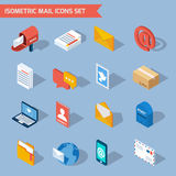 Isometric Mail Icons Stock Image