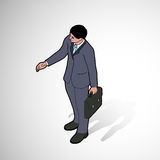 Isometric man shaking hand. Front pose Royalty Free Stock Image