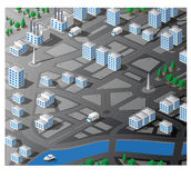 Isometric map Royalty Free Stock Images
