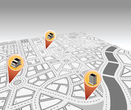 Isometric map Royalty Free Stock Photography