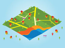 Isometric map Stock Images
