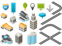 Isometric map toolkit vector illustration