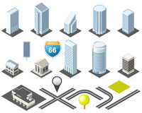 Free Isometric Map Toolkit Downtown Stock Image - 21118791