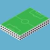 Isometric markings of a football field. Isometric football field. Stock Images