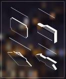 Isometric markiza sztandary Zdjęcie Royalty Free