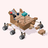 Isometric Mars Rover Royalty Free Stock Image