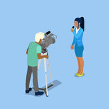 Isometric Mass Media Concept with Reporter and Video Operator. Vector illustration Stock Image